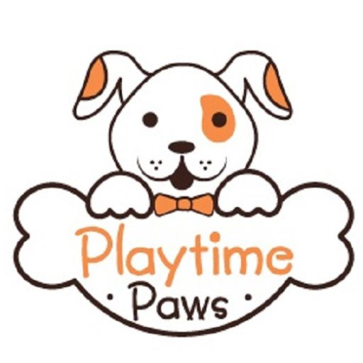 Playtime Paws Logo. Offering Dog Training, Dog Behavior and Belly Rubs